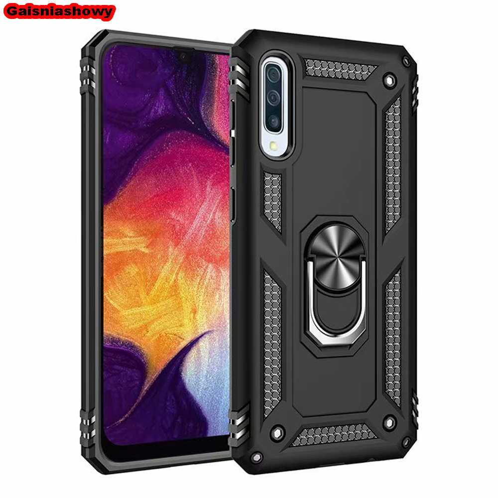 Shockproof Case For Samsung Galaxy A7 A9 A6 A8 Plus 2018 A30 A50 A10 A20 A40 A70 M10 M20 Kickstand Finger Ring Phone Case Cover