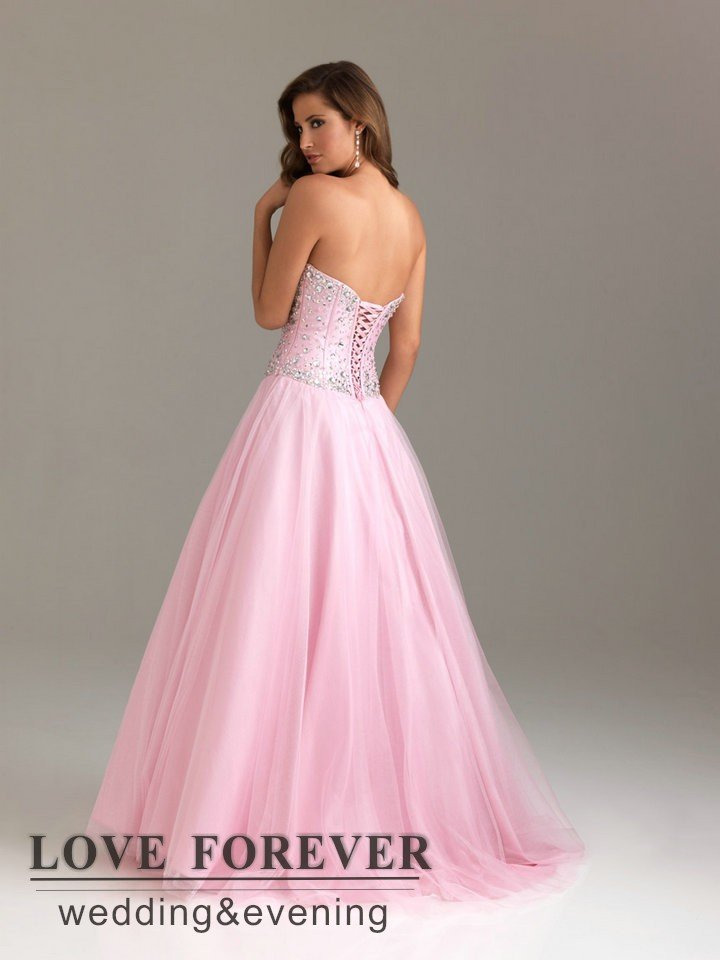 Best Selling Turquoise and Pink Corset Silver Beads Ball Gown Prom ...