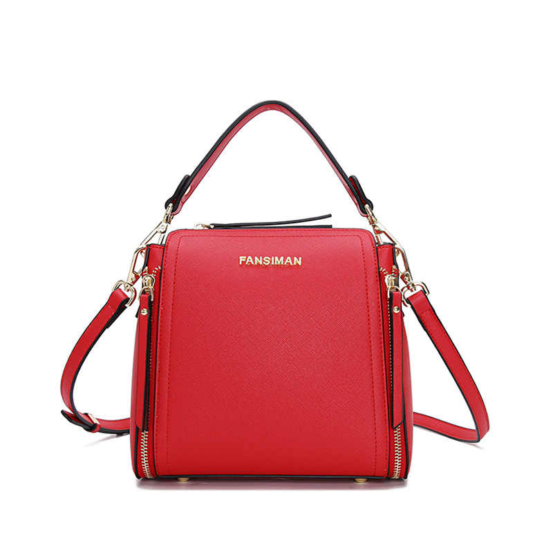 313ef6f7a5 Fansiman Brand 2019 Women Bags Small Luxury Shoulder Bag Female Double  Zipper Fashion Handbags Women Messenger