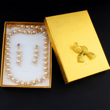 jiayijiaduo New Classic imitation pearl items Gold color jewelery set for women Crystal charm party gifts clothing dropshipping(China)