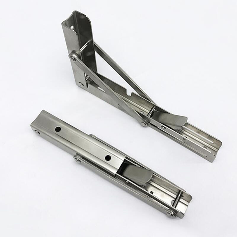 Stainless Steel Folding Triangle Bracket Bearing Wall Hanging Bracket Wall Clapboard Support X2 цена