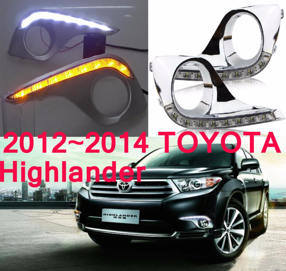 LED,2012~2014 Highlander day Light,Highlander fog light,Highland headlight;vios,corolla,camry,Hiace,sienna,yaris,High lander