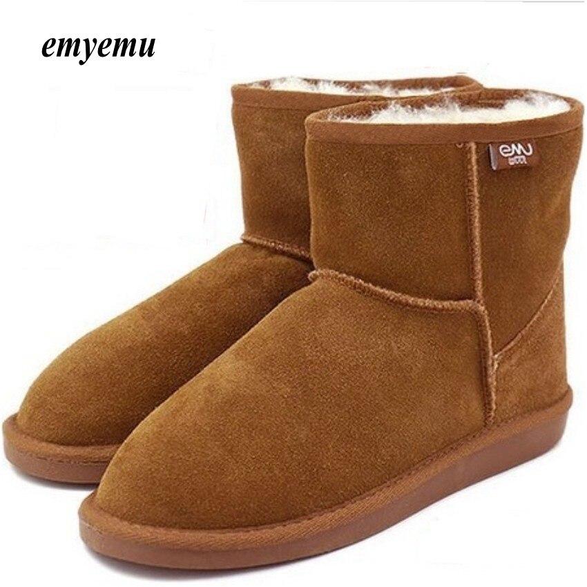 Новый emyemu Bronte Mini (w20003) Корова-из натуральной замши с 100% шерсти внутренняя зимние ботинки 5 видов цветов Бесплатная доставка