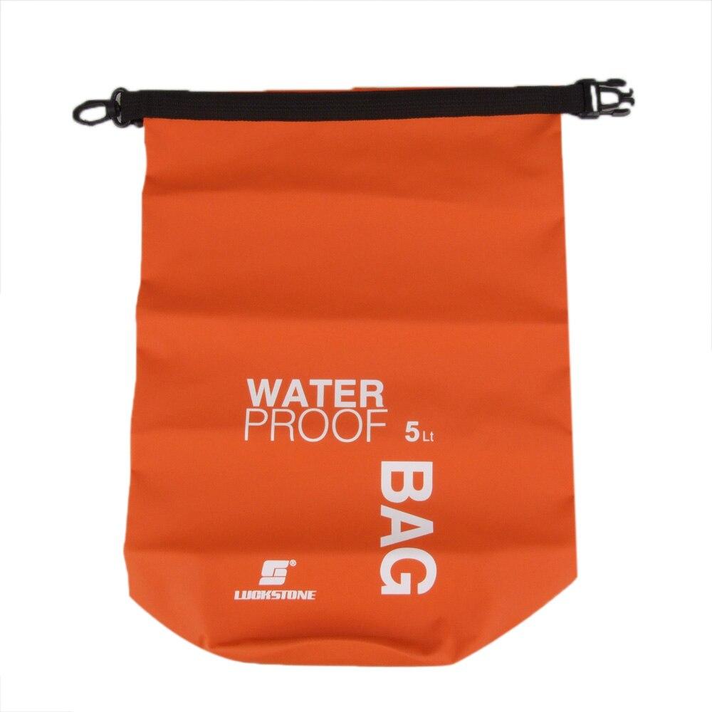 Luckstone 5l Ultralight Outdoor Waterproof Rafting Dry Bag Camping Travel Kit Equipment Canoe Kayak Swimming Bags Storage Orange In Climbing From