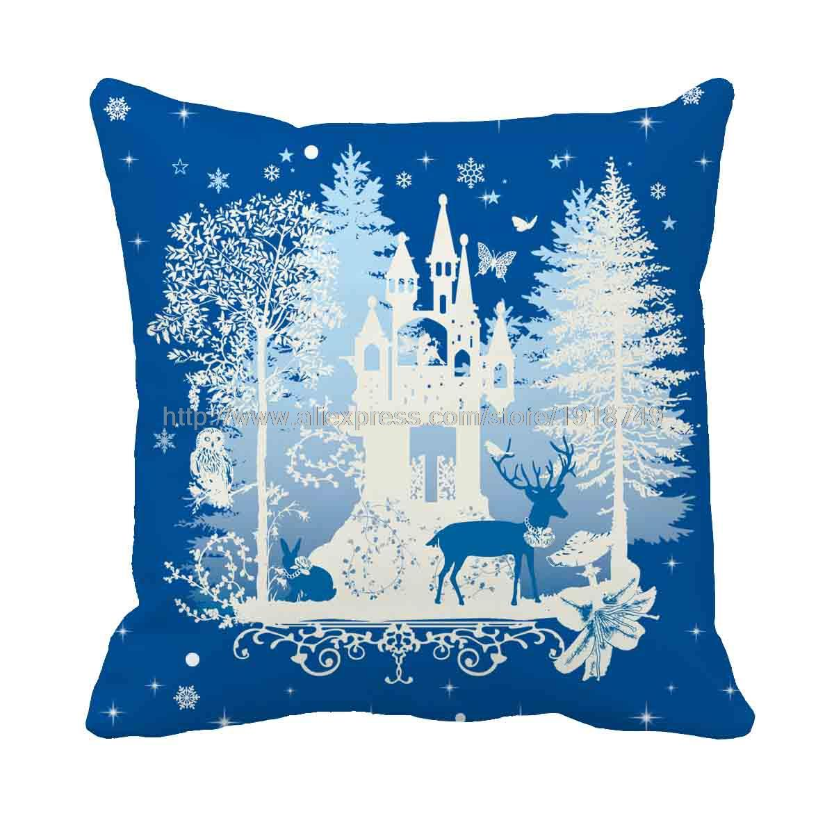Chair Covers At Christmas Tree Shop Desk Lumbar Pillow Aliexpress Buy Trees Around The Castle Custom Home
