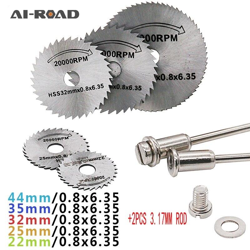 22 25 32 35 44mm HSS Circular Saw Blades Cutting Disc Rotary Tools w// 1 Mandrel
