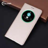Smart View etui z klapką skrzynki pokrywa skóra telefon etui na ASUS Zenfone 3 Laser Zenfone3 ZC551KL ZE520KL ZE552KL ZC 551KL ZE 520KL 552KL pokrywa