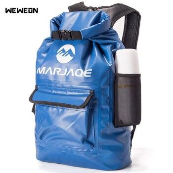 цена на 22L Waterproof Dry Bag Outdoor Swimming Bag Sack Storage Backpack for River Trekking Rafting Boating Kayaking Camping Canoeing