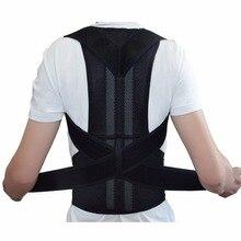Back Support Posture Shoulder Corrector Brace Belt Therapy Adjustable Free Shipping 1PC Black