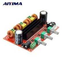 AIYIMA TPA3116 2.1 dijital ses amplifikatörü kurulu TPA3116D2 Subwoofer hoparlör amplifikatörler DC12V 24V 2*50W + 100W