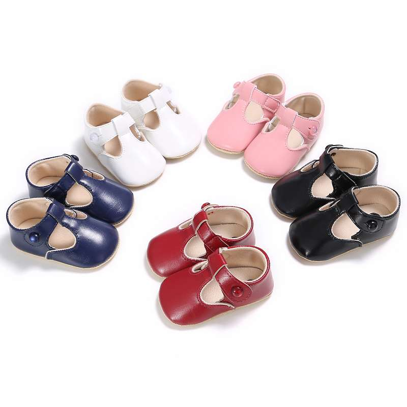 The New 2017 Newborn Baby Shoes Solid Color Autumn Spring Baby Princess Girl `s Shoes Bebe Toddler First Walk Shoes