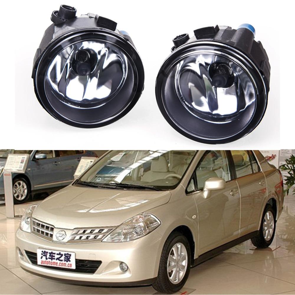 For  NISSAN Tiida Saloon SC11X 2006-2012 Car styling Fog lights halogen lamps 1SET 26150-8990B for suzuki sx4 gy hatchback 2006 2012 car styling fog lamps halogen fog lights 1set