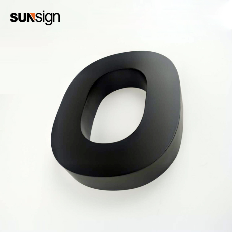 3D laser cutting brushed black stainless steel letter business company sign3D laser cutting brushed black stainless steel letter business company sign