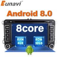 Eunavi 2 Din Android 8,0 dvd плеер автомобиля аудио радио gps навигация для VW GOLF 6 поло Бора JETTA B6 PASSAT Tiguan SKODA OCTAVIA