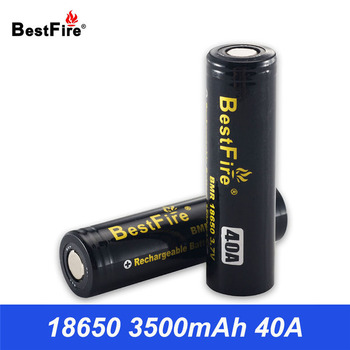 Bestfire 18650 Battery 3.7V Li-ion Rechargeable Battery 40A 3500mAh High Drain Lithium Battery for Vape Mod Flashlight Tools цена 2017