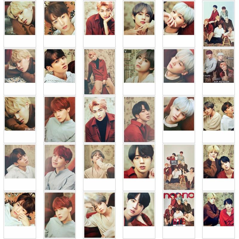 [MYKPOP]BTS JAPANESE MAGZINE NONNO Photo Card K-POP Paper Cards HD Polaroid Photocard 30pcs/set in Tin Box SA18040413