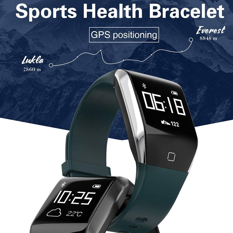 YD818 bande À Puce gps montre étanche bracelet coeur taux Smart bracelet smart sport montre homme smart watch pk fit bit mi bande 3