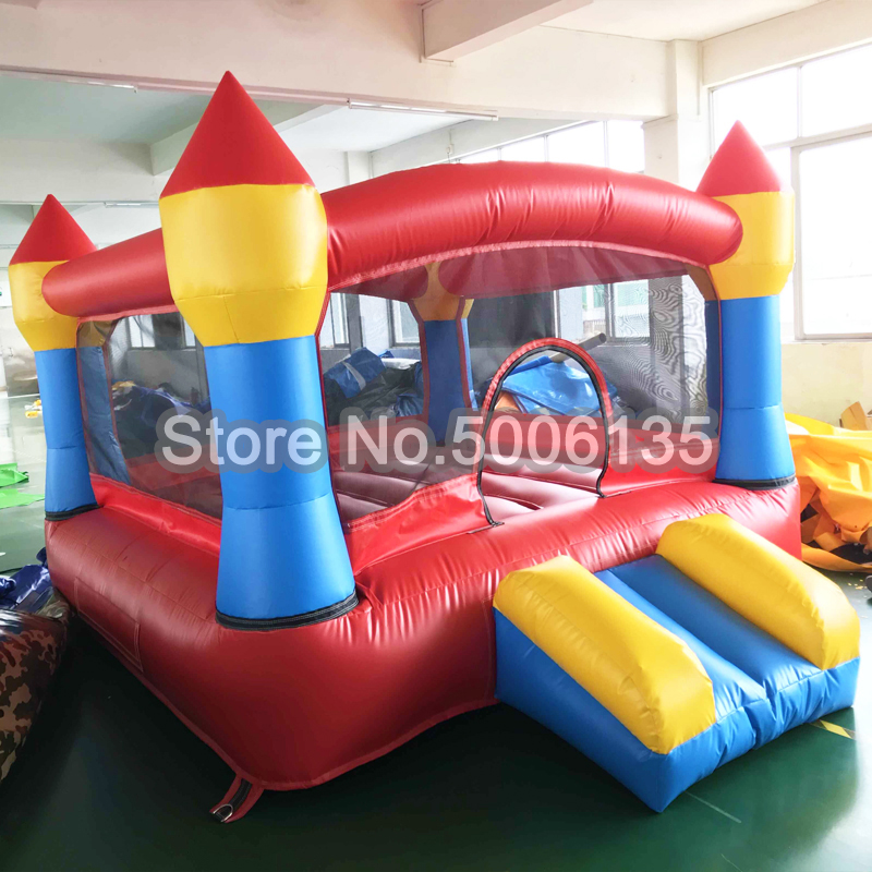 Free air blower colorful kids jumping castle, 3x2x2m giant inflatable bouncer house with slide