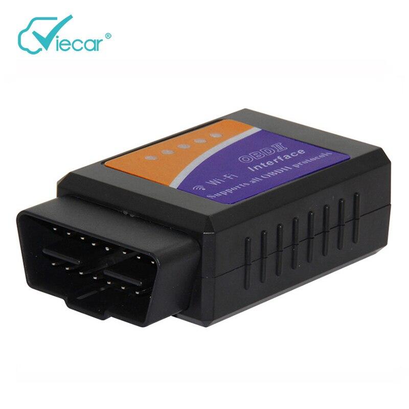 Elm327 V1.5 WiFi OBD2 Diagnóstico Auto con Pic18F25K80 chip Elm 327 diagnóstico OBD 1.5 adaptador de coche para iPhone