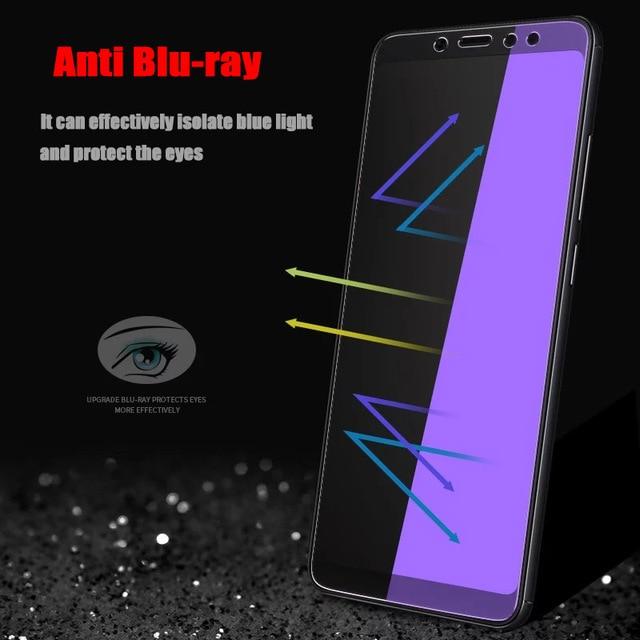 2Pcs/lot Full Tempered Glass For Xiaomi Redmi Note 5 Pro 6 Screen Protector Anti Blu-ray Protector Film For Redmi 5 Plus glass 3