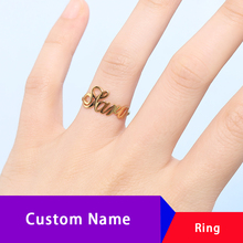 Custom Ring Name Rings For Women Personalized Stainless Steel Jewelry Accessories Bridesmaid Gifts