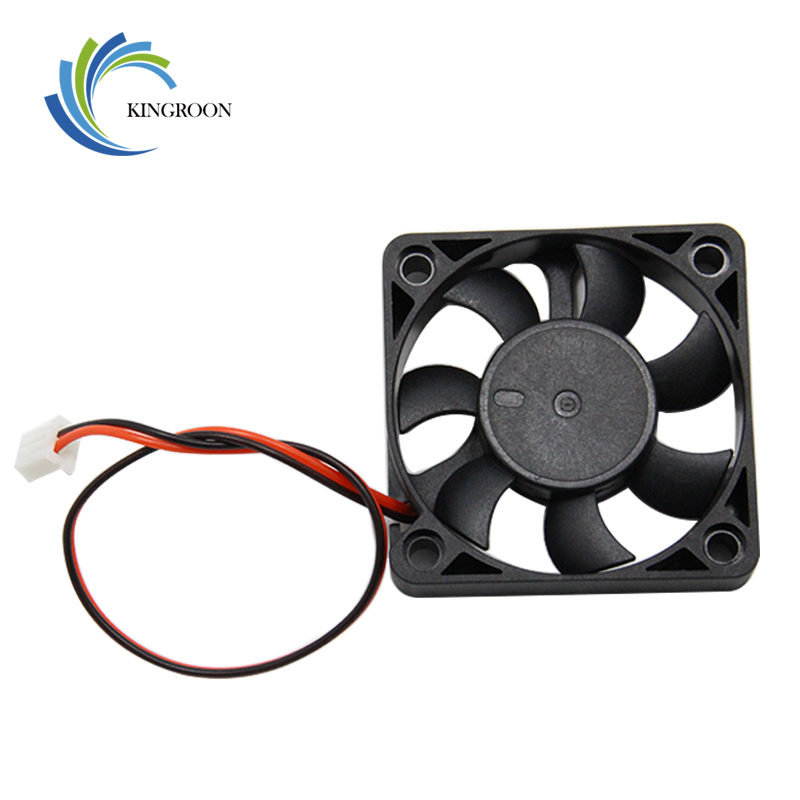 5010 Cooling Fan 12V 50mm Cool 3D Printers Parts 2 Pin Brushless 5CM DC Fans Cooler Radiator Part 50*50*11.5 Mm Quiet Accessory