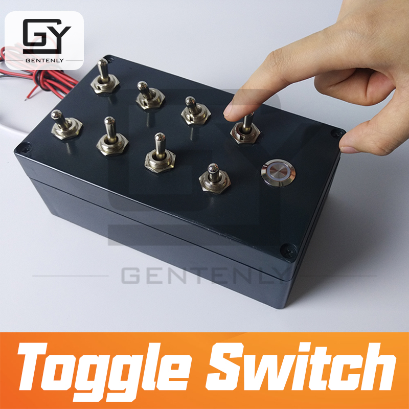 12V Escape room props Toggle Switch adjust toggles to correct position to unlock chamber room prop
