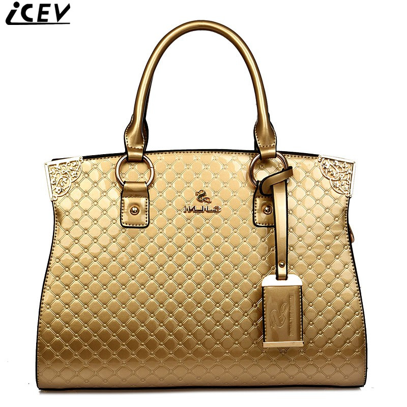 2017 designer handbags high quality luxury patent leather women handbag famous brands ladies embossed messenger bags office sac icev luxury designer high quality patent split leather women s handbags famous brands lace embroidery messenger bag ladies tote