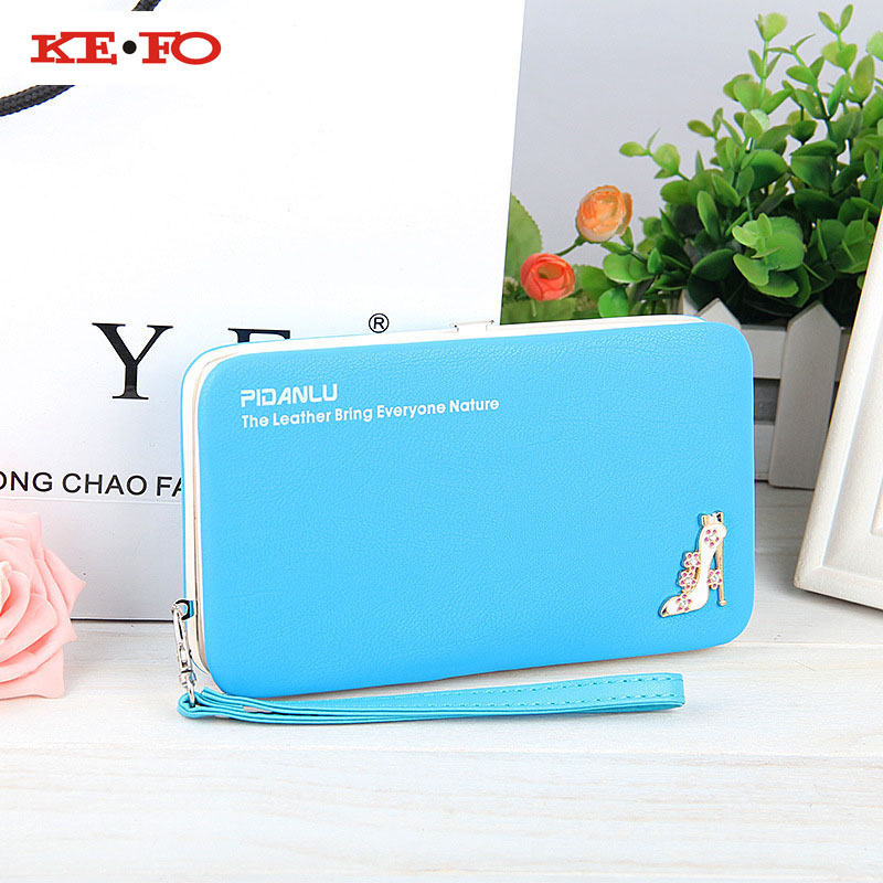KEFO Long Women Wallets Female Clutch Purse Universal Case Phone Pocket For Samsung Galaxy S9 Plus S3 S4 S5 S6 S7 Edge S8 Plus