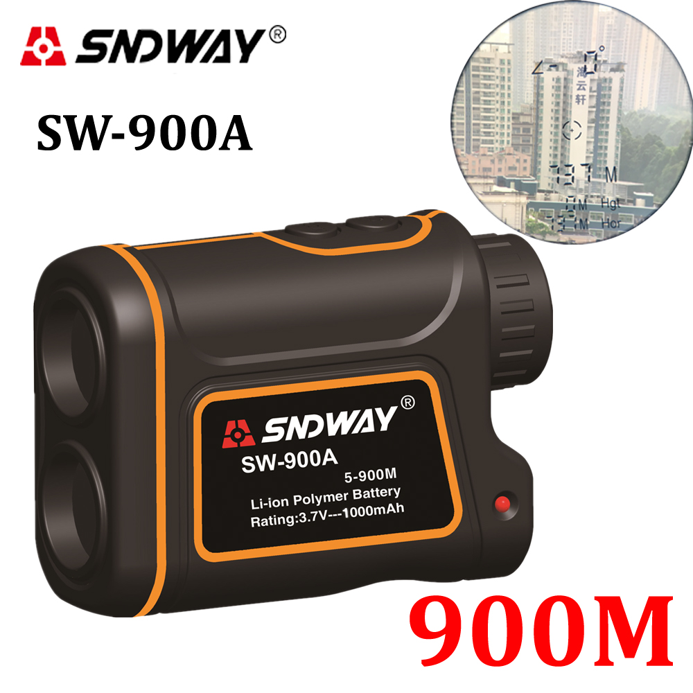 SNDWAY Telescope trena laser rangefinders distance meter Digital 8X 900M Monocular hunting golf laser range finder tape measure