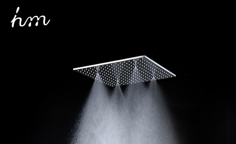 hm 20\'\' Multi Function Led Light Shower Head Ceiling Rain Shower SUS304 Mirror LED Rainfall & SPA Mist Massage Shower Heads (13)