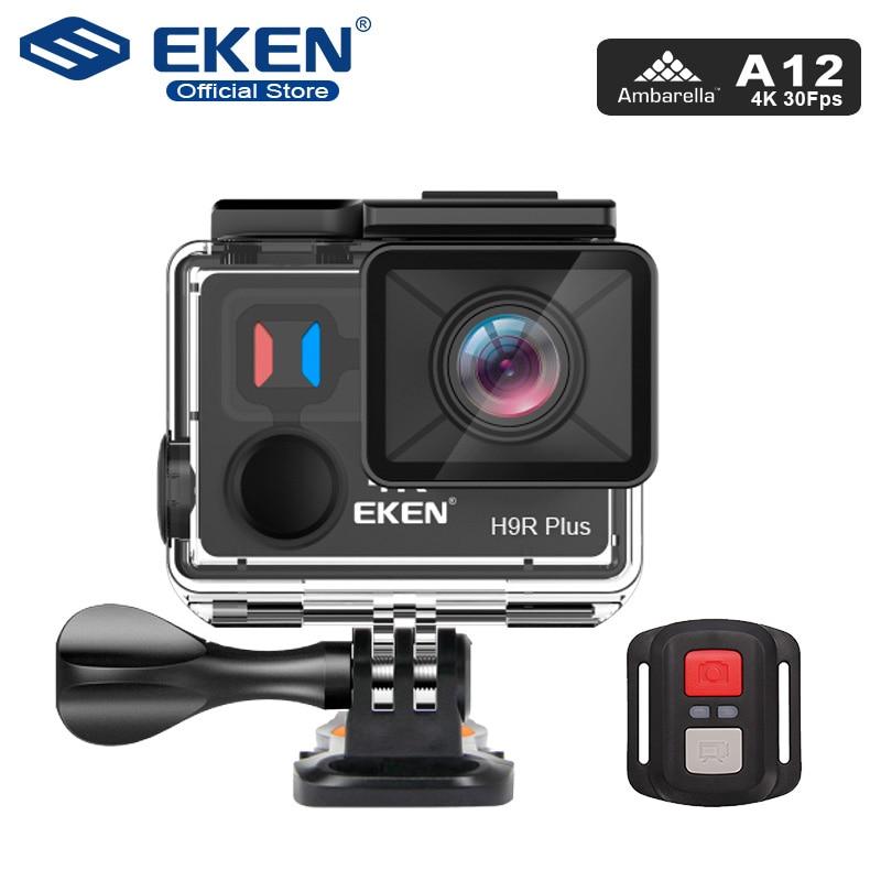 Eken h9r mais câmera de ação ultra hd 4k a12 4 k/30fps 1080 p/60fps para panasonic 34112 14mp ir à prova dwaterproof água wifi esporte cam pro