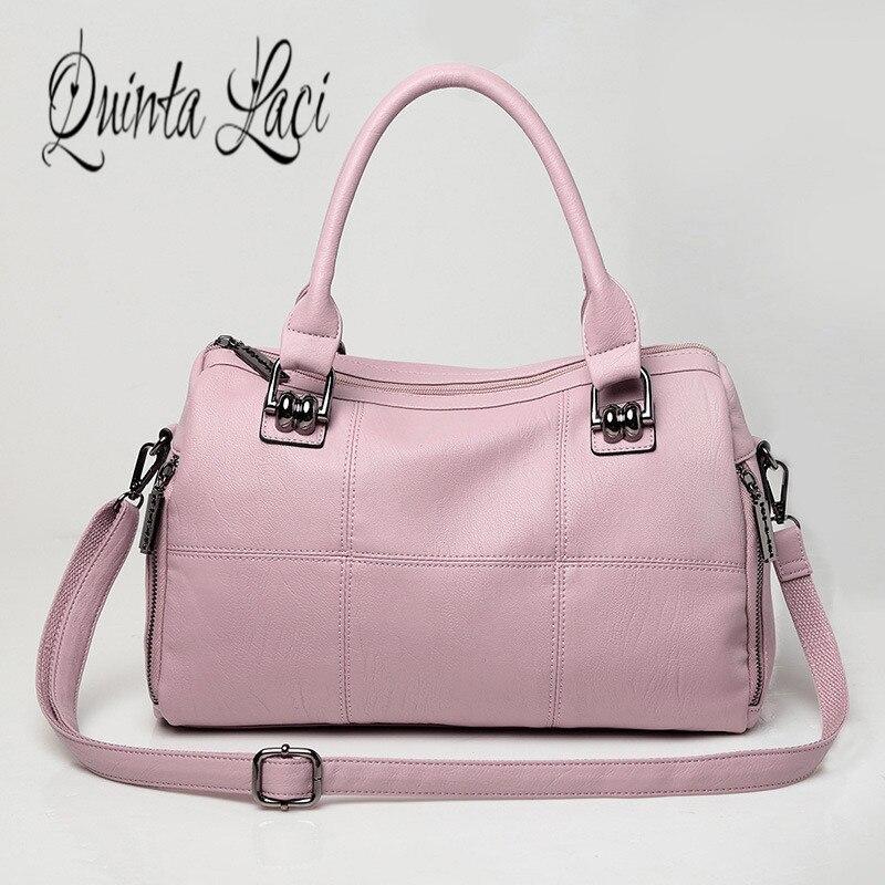 Quinta Laci Women Bag 2017 New Fashion Genuine Leather Zipper Black Handbag Bulk Simple and Casual Shoulder Cross Handbags la quinta inn