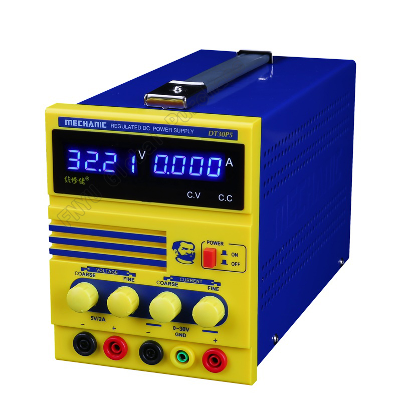 MECHANIC DT30P5 DC regulated power supply Power 4 bit digital display Adjustable 0-30V 0-5A Laboratory Test Power Supply