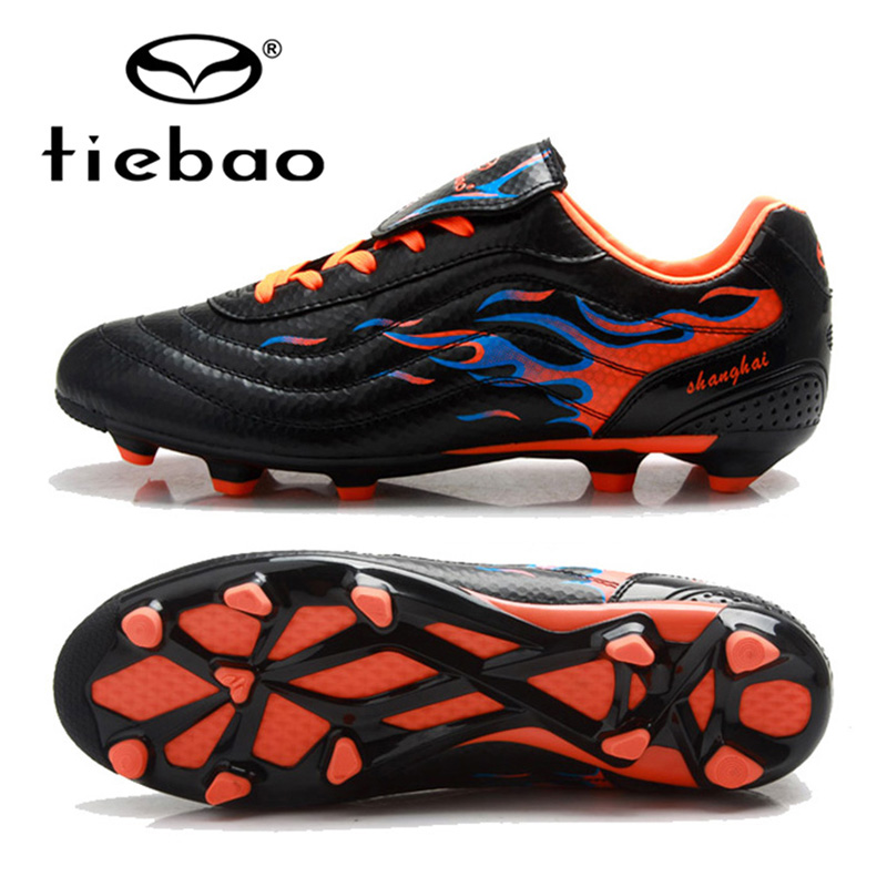 ФОТО TIEBAO Professional Soccer Shoes Adults Outdoor Sports FG & HG Soles Sneakers Men Teenagers Athletic Training Football Boots
