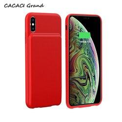 5000mah ultra fino caso de carregamento da bateria para o iphone xs max caso carregador de bateria externa telefone caso magro para iphone xr capa 6.1