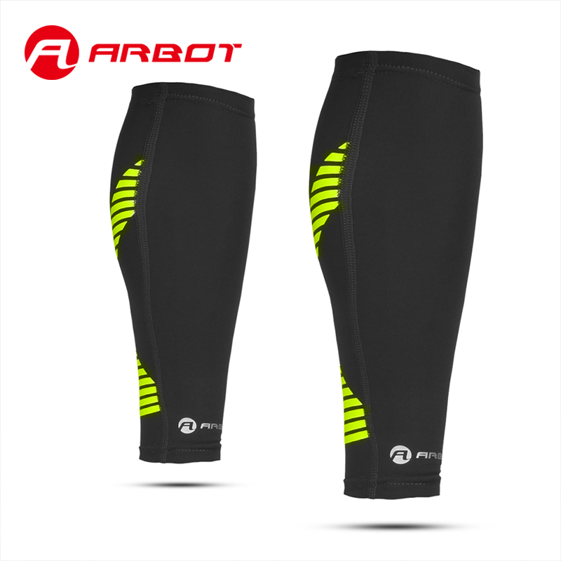 Arbot Compression Calf Sleeve for Basketball Volleyball Men Support Calf Elastic Sports Wrap Guard Shin Leg Sleeve Protector