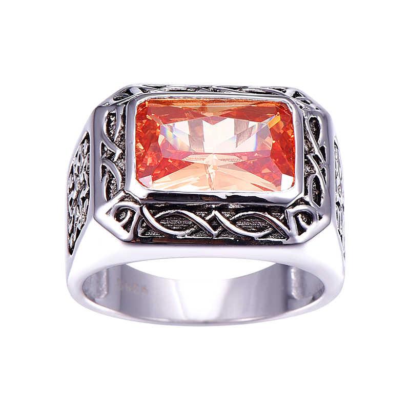 Античный 11,28 г 6.75ct морганит ювелирные кольца 100% 925 Серебряное кольцо унисекс для женщин и мужчин Размер 6 7 8 9 10 11 подарочная упаковка