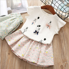 Children Clothing 2019 Summer Toddler Girls Clothes T-shirt+Shorts Outfits Kids
