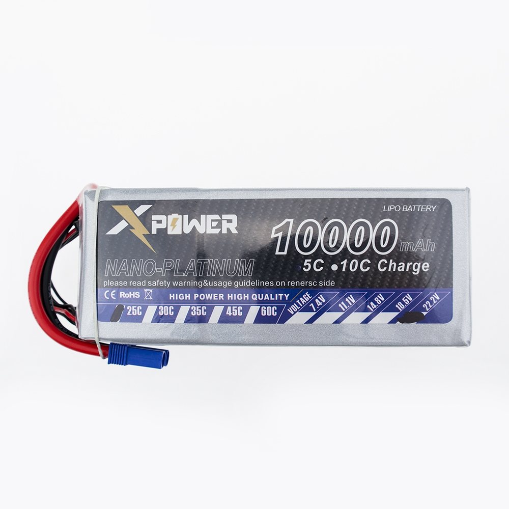 все цены на EC5 Plug 10000Mah 22.2V 25C Lithium Li-po Battery T or XT60 plug For RC Helicopter Qudcopter Drone Truck Car Boat Bateria онлайн