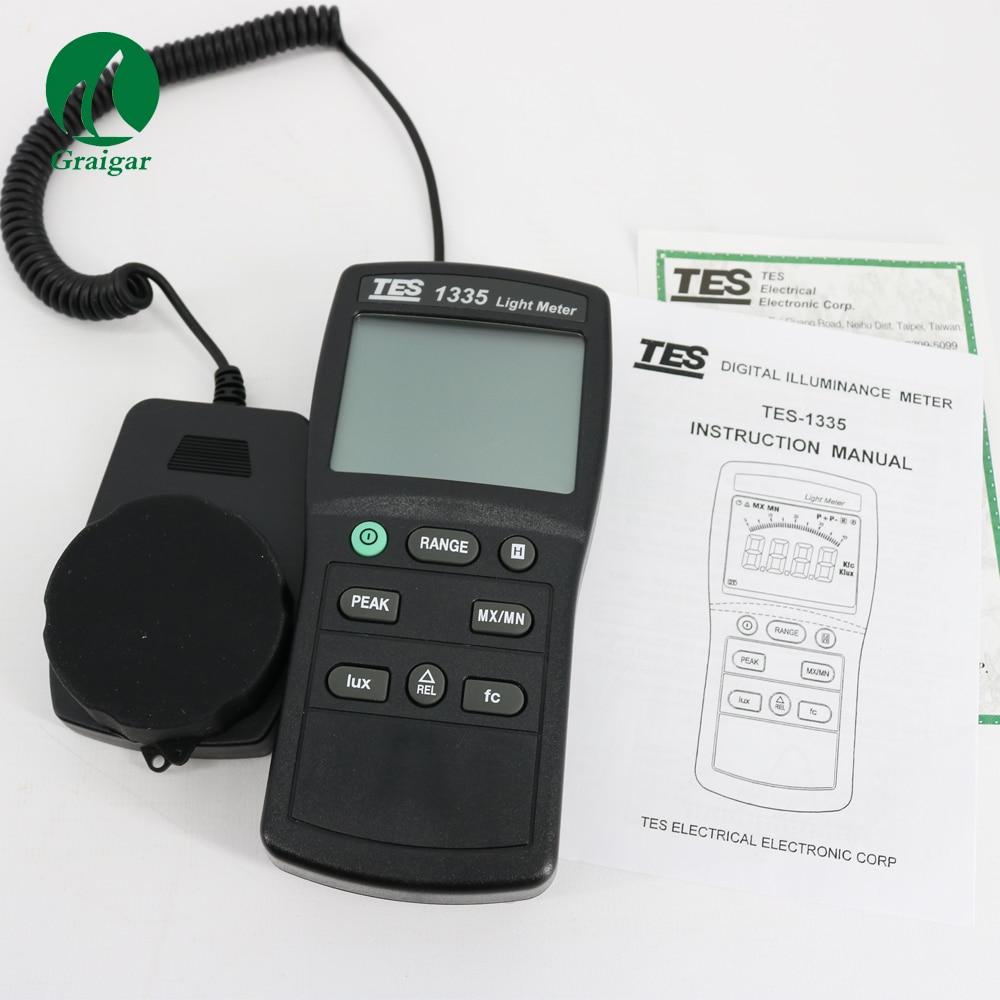 Digital Light Meter Luminous Flux Meter Light Meter TES 1335
