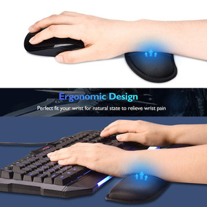 Image 2 - RAKOON Keyboard Wrist Rest Pad Wrist Rest Mouse Pad Memory Foam Superfine Fibre Durable Comfortable Mousepad for Office Gaming