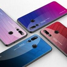 Temperli Cam için Huawei Nova 3i Kılıf Silikon Renkli Huawei Nova 4 üzerinde Coque Kılıf Huawei Onur için 8X kapak için Onur 10