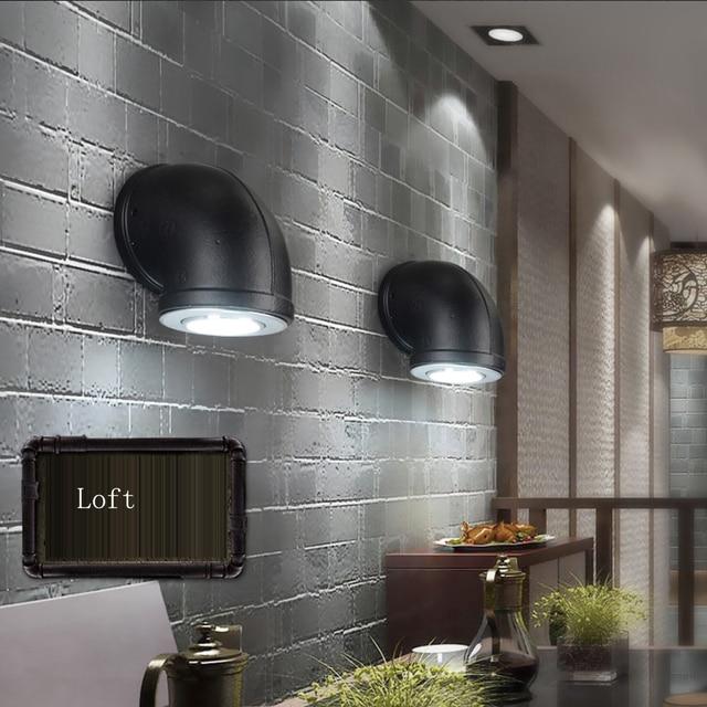 LED Loft Industriel Fer Tuyau D eau LED Lampe Led Mur lampe Wall