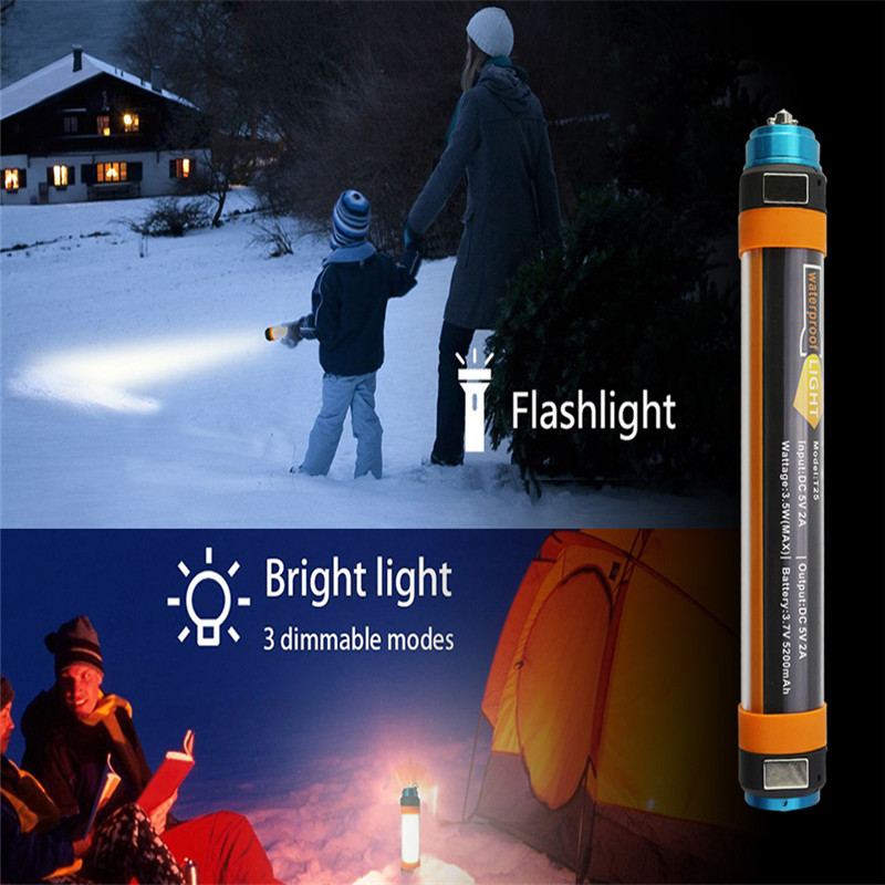 SXZM 3W/5W/7W Travel USB Portable 7800mah Power Bank Flashlight IP68 6 Modes LED Tent Camping Hiking Lantern Car Warning Light
