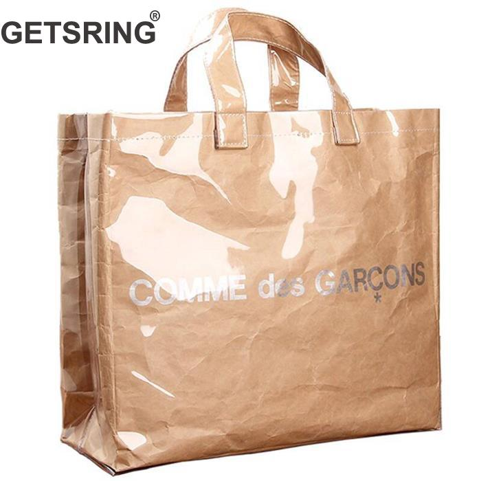 GETSRING Women Bag Women Handbags Casual Bag Transparent Kraft Paper Totes Letter Woman Bags Fashion One