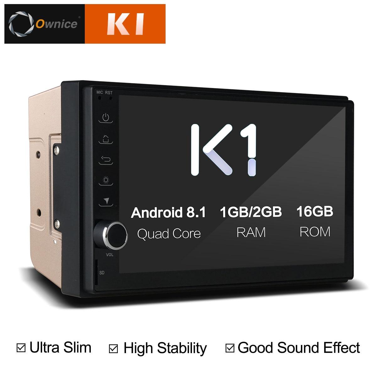 Ownice K1 android 8.1 Auto DVD Player GPS Navigation Multimedia 2 din radio universal Für Nissan Toyota Volkswagen Mazda Kia VW