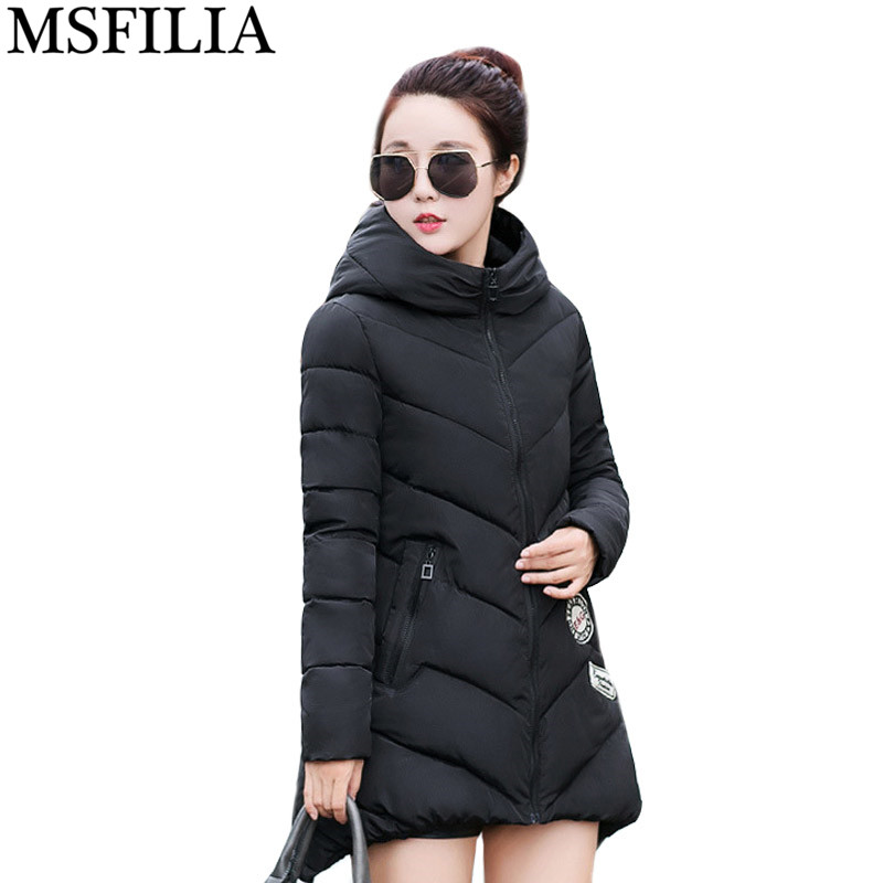 2017 Womens Winter Down Cotton Jacket Long Women Coat Hooded Thick Warm Clothes Parka High Quality Jacket Coats Female  high quality womens coats winter fashion women parka winter jacket female long white duck down parkas coat thick hoody coat