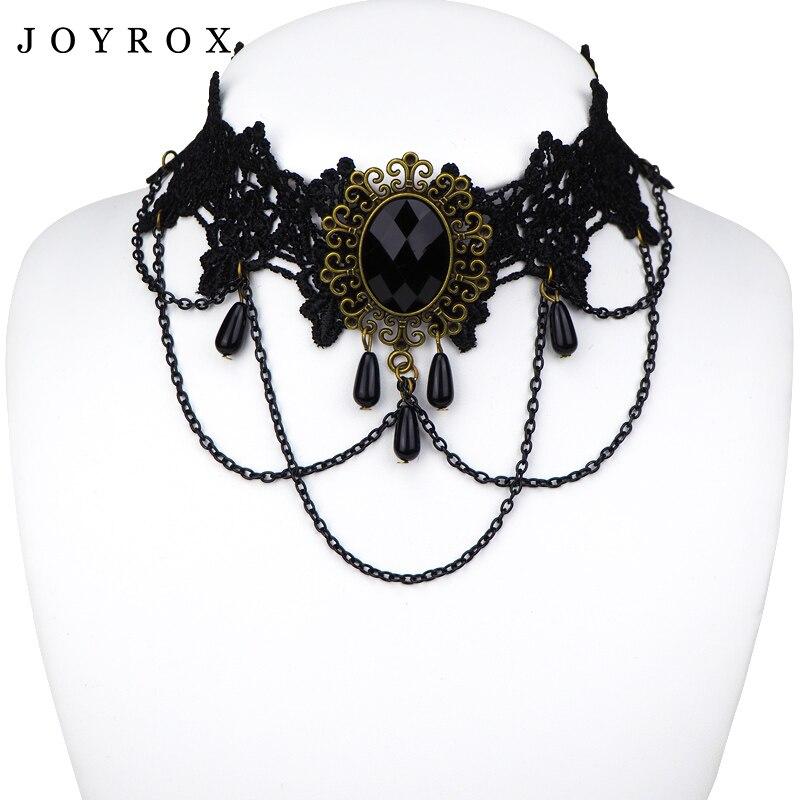 POPLOV Hot Women Chocker Necklace Gothic Style Lace Pendant Wedding Jewelry Ladies Choker Punk Fashion Vintage