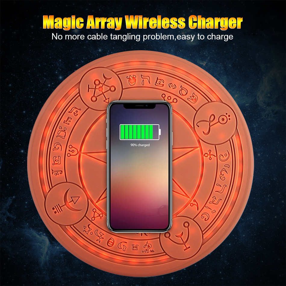 10W Magic Array Wireless Charger Universal Circle Qi Wireless Fast Charger Charging Pad For iPhone X XS Max XR Samsung with Box (17)
